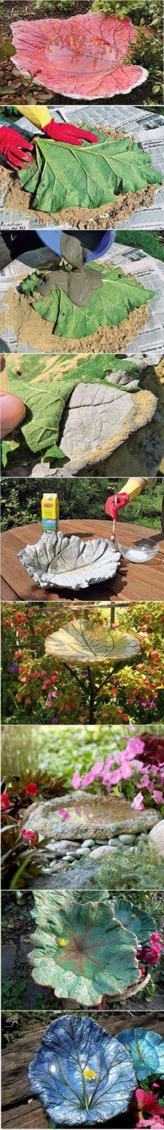 Дачные поделки своими руками для украшения сада: листья