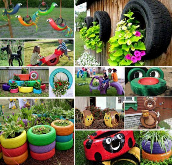 Поделки из шин для сада и огорода своими руками: идеи