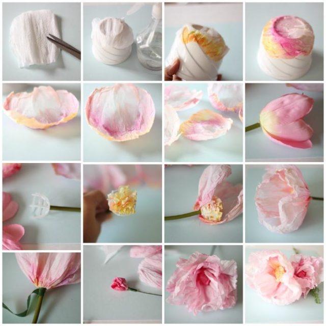 Вафельные цветы своими руками