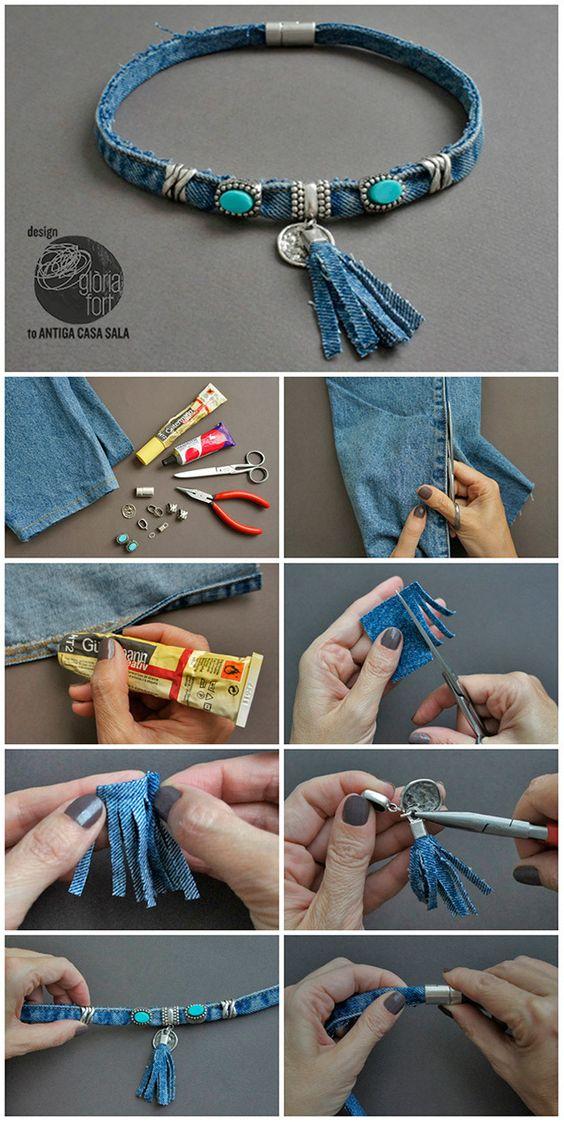 Что можно сделать из джинсов своими руками: чокер