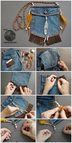 Что можно сделать из джинсов своими руками: сумка