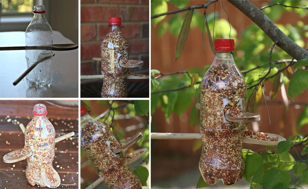 Поделки для сада своими руками: кормушка для птиц