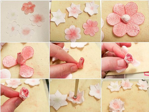 Как сделать цветок из скрапбумаги