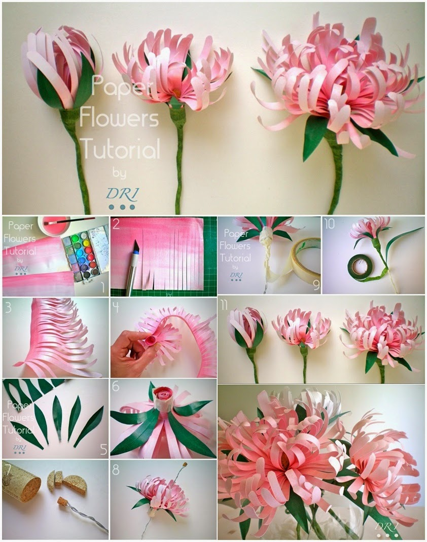 Цветы из бумаги своими руками (76 фото шаг за шагом как) 12
