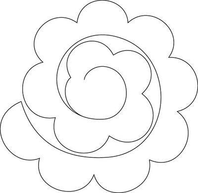 Цветы из бумаги своими руками: шаблоны (4)