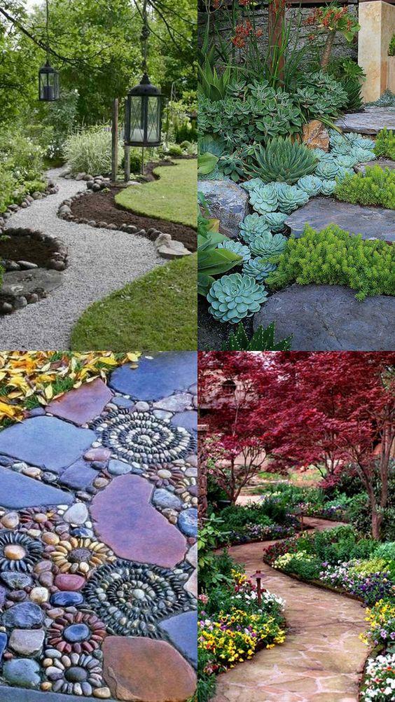 Поделки для сада своими руками: дорожки из камней