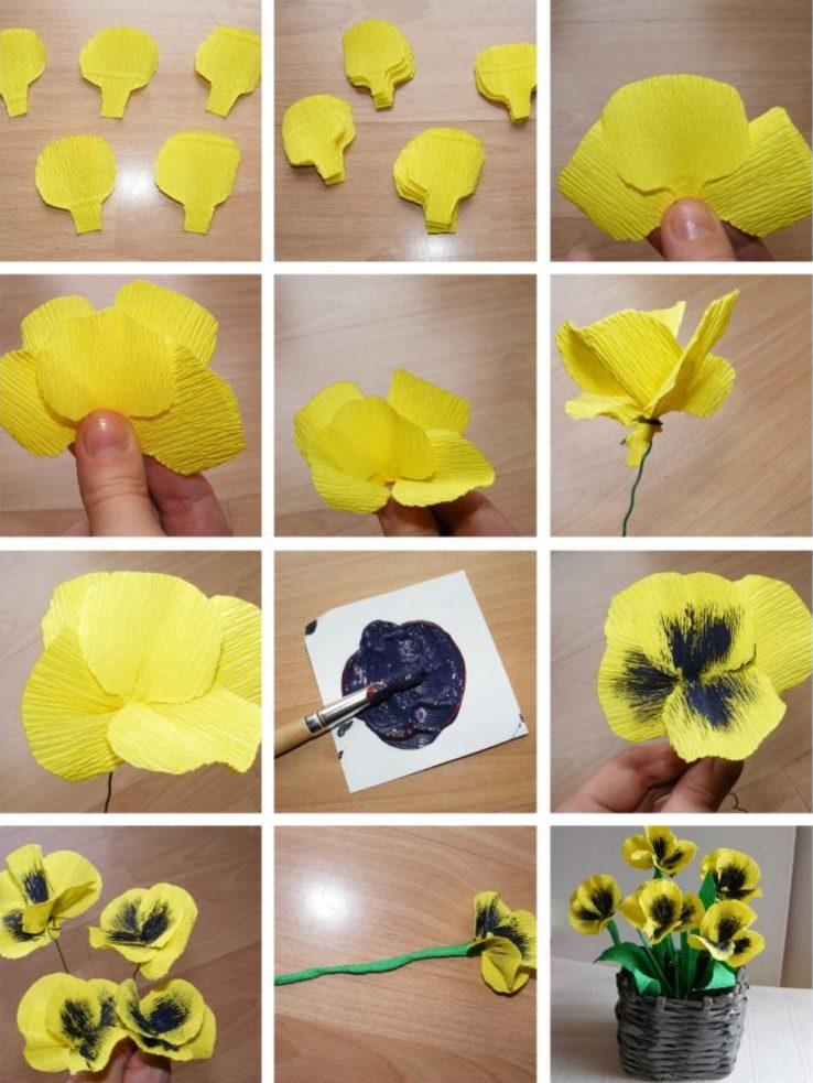 Цветы своими руками в 1 классе 355