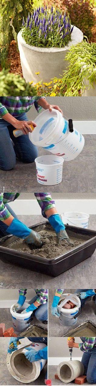 Дачные поделки своими руками для украшения сада: бетонная клумба