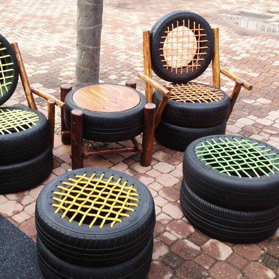 Садовая мебель своими руками: из шин