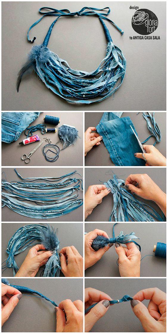 Что можно сделать из джинсов своими руками: ожерелье