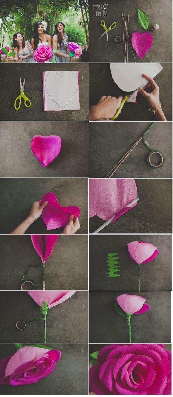 Как сделать розу из гофрированной бумаги своими руками? 22