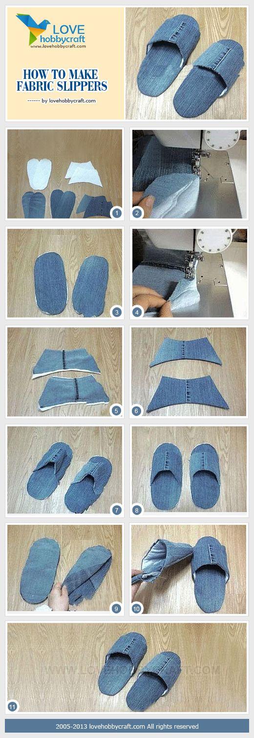 Что можно сделать из джинсов своими руками: тапочки