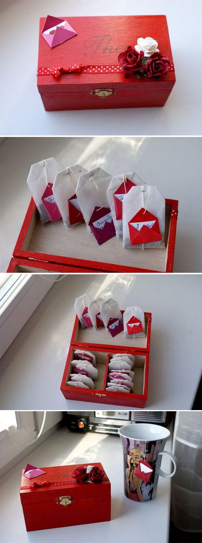 Подарок бабушке своими руками: чайная коробка