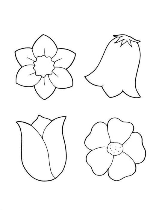 Цветы из бумаги своими руками: шаблоны (6)