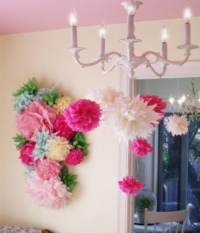 Цветы из гофрированной бумаги: украшаем интерьер
