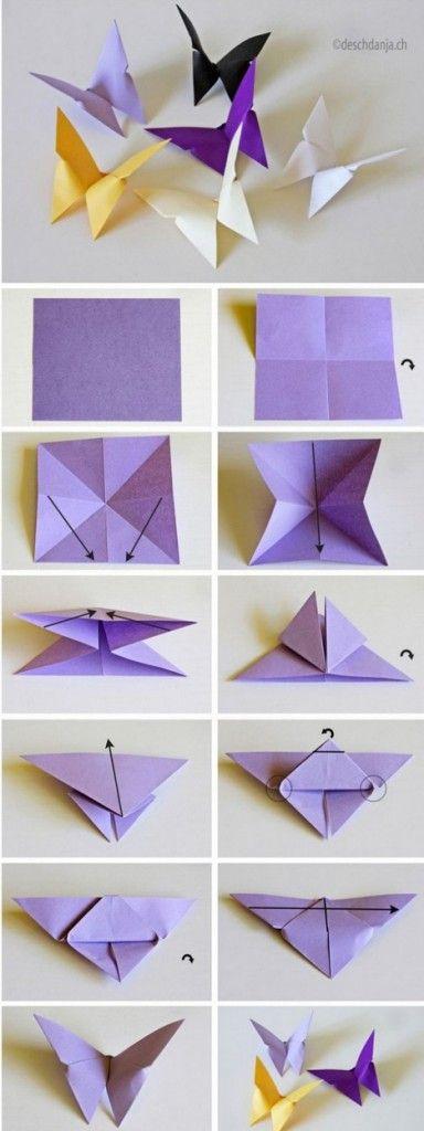 Что можно сделать из бумаги своими руками: бабочки