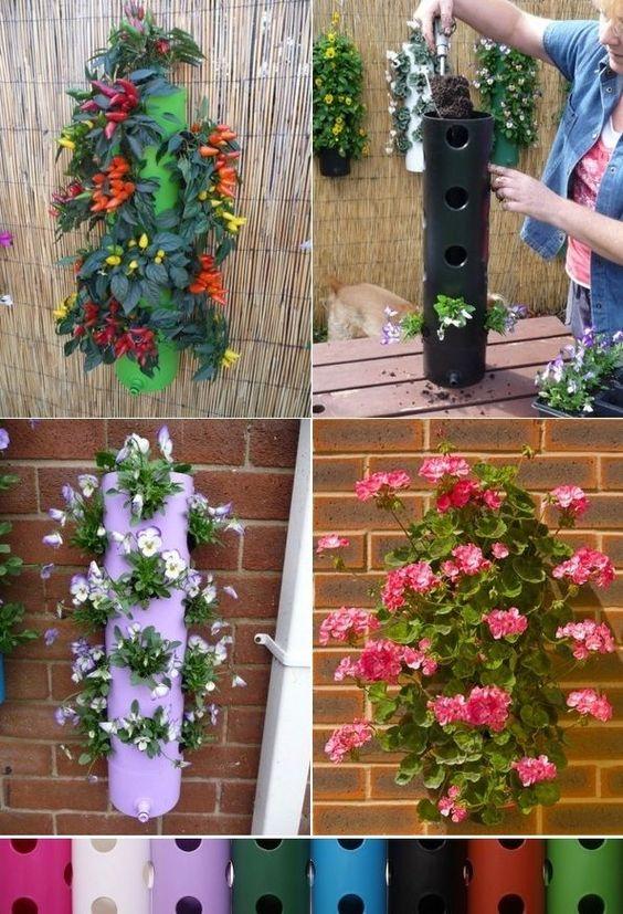 Самоделки для дачи и огорода своими руками: цветущие столбы