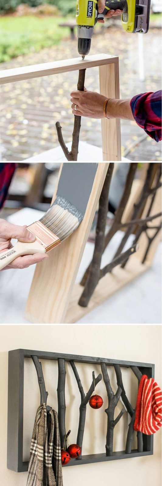 Что можно сделать своими руками: вешалка из веток