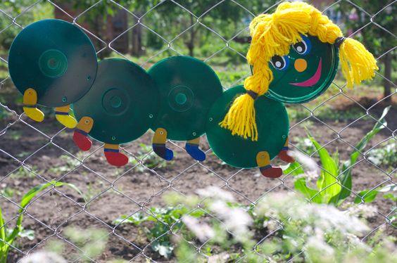 Поделки для сада своими руками: гусеница