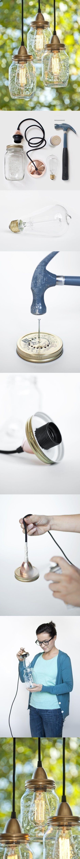 Самоделки для дачи своими руками: светильник