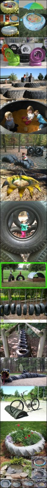 Поделки из шин для сада и огорода своими руками: мастерим на даче