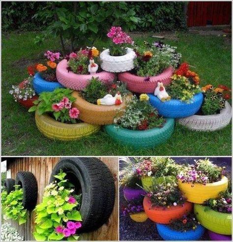 Поделки для сада своими руками: цветники из шин