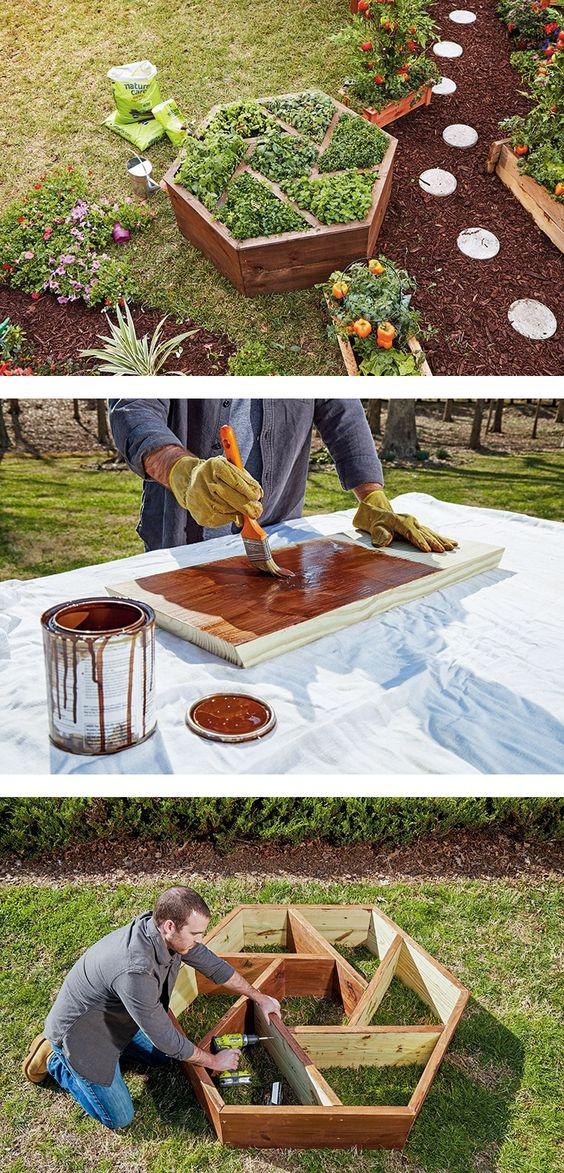 Поделки для сада своими руками: деревянная клумба