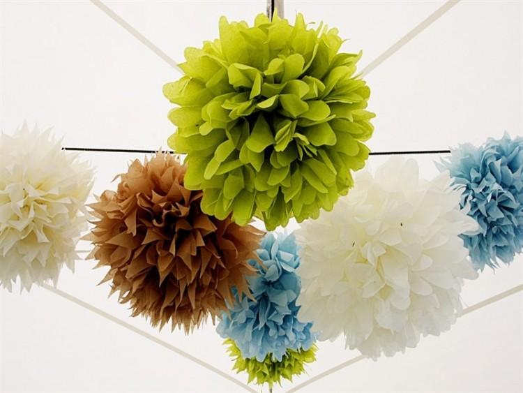 Цветы из гофрированной бумаги для украшения интерьера