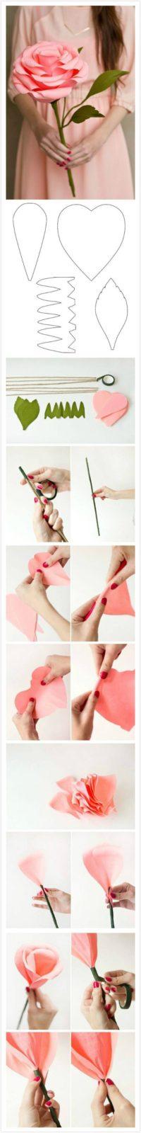 Цветы из бумаги своими руками: схемы (3)