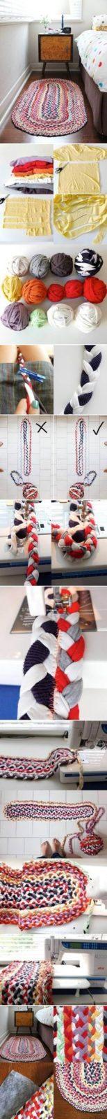 Подарок бабушке своими руками: коврик из ткани