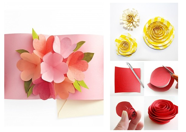 Подарок бабушке своими руками: цветы из бумаги
