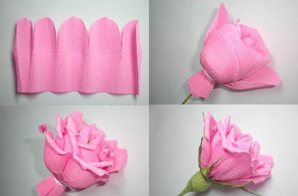 Розы из гофрированной бумаги своими руками: мастер-класс