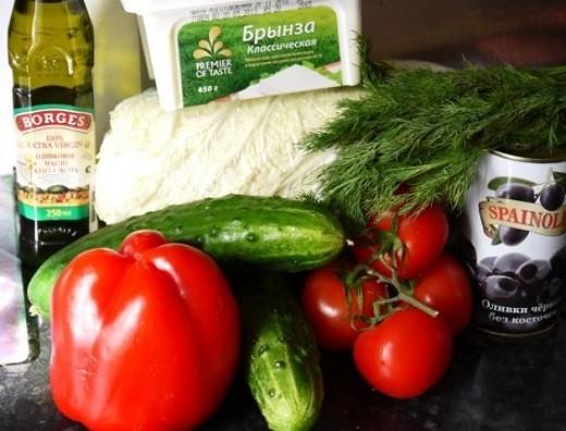 Салат из свежей капусты: греческий