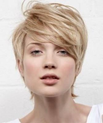 Стрижки на короткие волосы: светлая