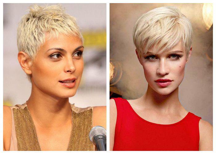 Стрижки на короткие волосы: блонд 2