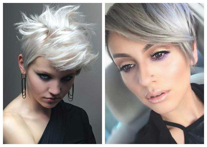 Стрижки на короткие волосы: блонд
