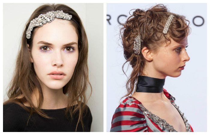 Модные прически 2017 на средние волосы:с украшениями