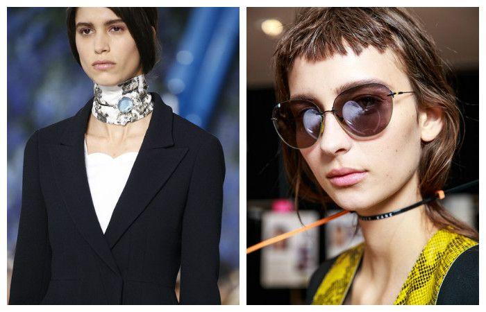 Модные прически 2017 на средние волосы: с колье