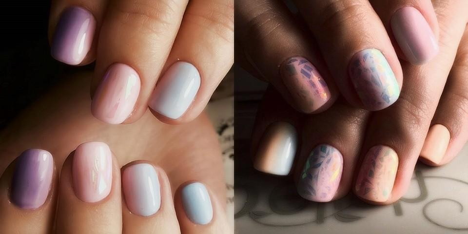Маникюр на короткие ногти дизайн 2017: битое стекло