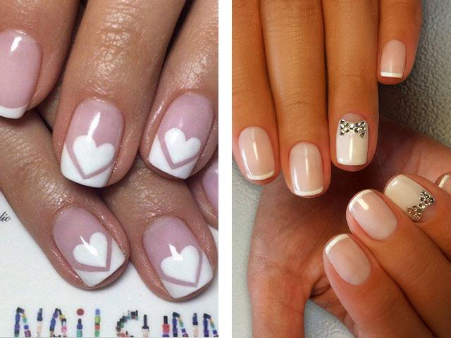 Френч на короткие ногти дизайн 2017