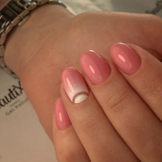 Маникюр на короткие ногти дизайн 2017: розовый