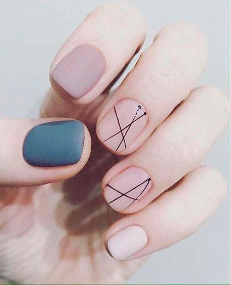 Дизайн ногтей гель лаком: стильные линии