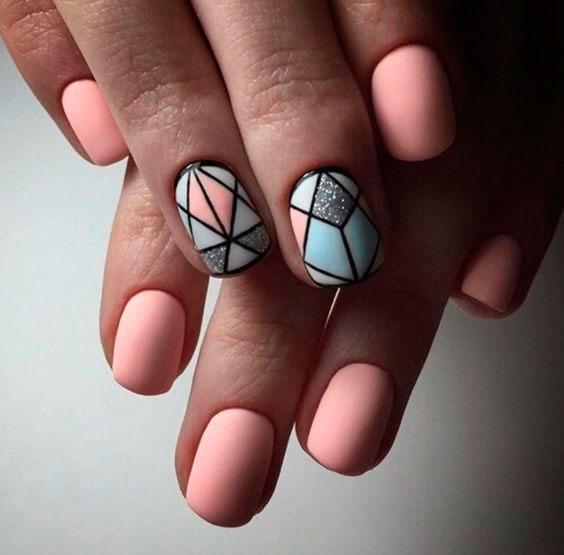 Дизайн ногтей гель лаком: битое стекло