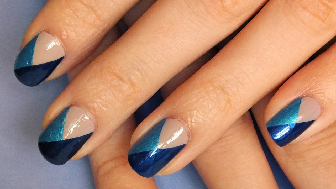 Гель лак на короткие ногти: три цвета