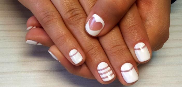 Шеллак на короткие ногти: тенденции 2017: бело-прозрачный