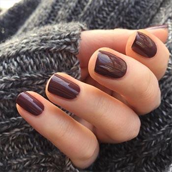Маникюр 2017: модные тенденции (шоколадный)