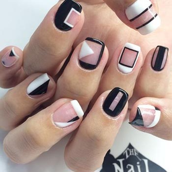 Дизайн ногтей гель лаком: геометрия