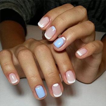 Дизайн ногтей гель лаком: лунный и френч
