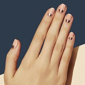 Дизайн ногтей гель лаком: лунный металлик
