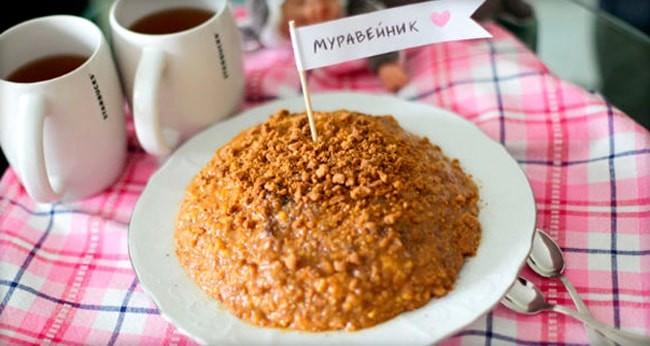 Торт муравейник: рецепт с печеньем